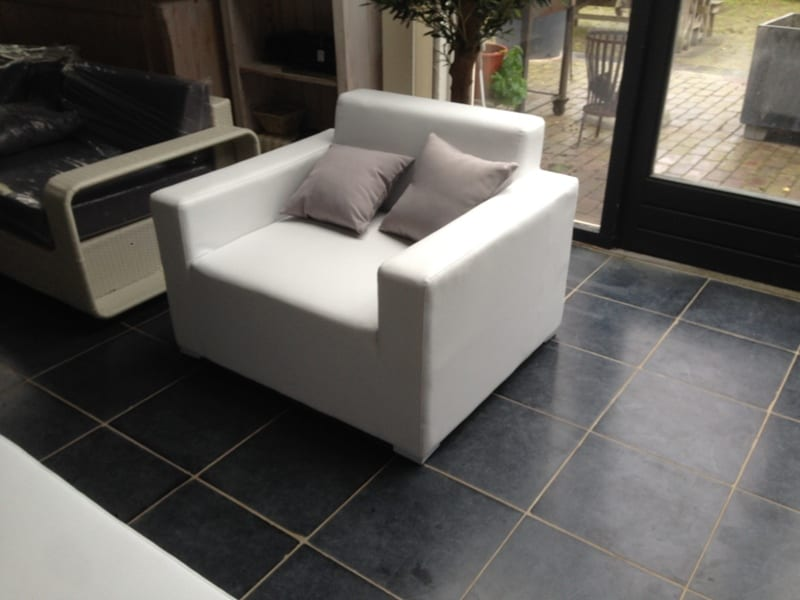 Fauteuil wit leer affordable luxe kopen with fauteuil wit leer