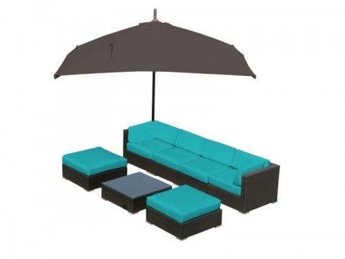 lounge set Marseille II turquoise alternatief