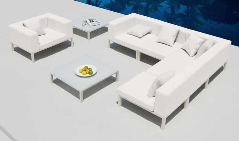 Loungeset monaco outdoorinstyle - Witte design lounge ...