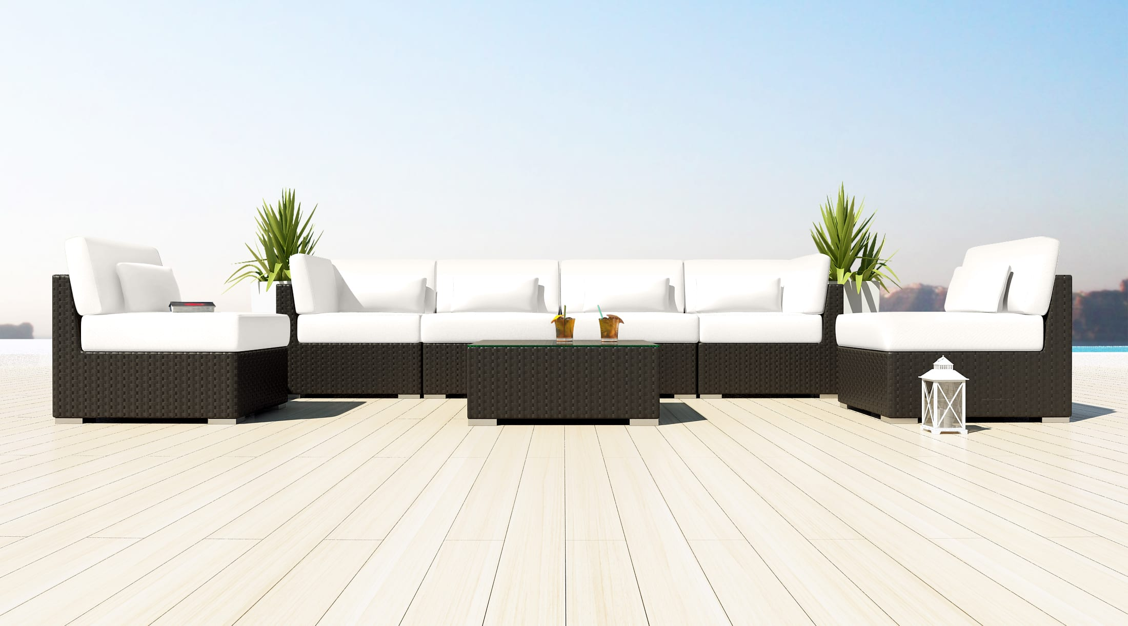 Loungeset Witte Kussens   Loungeset 2017