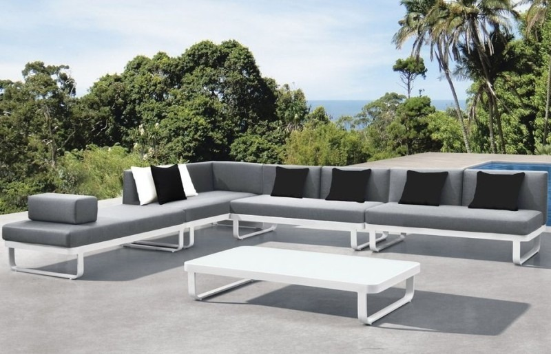 Loungeset cannes - Moderne zwart witte lounge ...