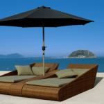 Beachlounger Villefranche met parasol