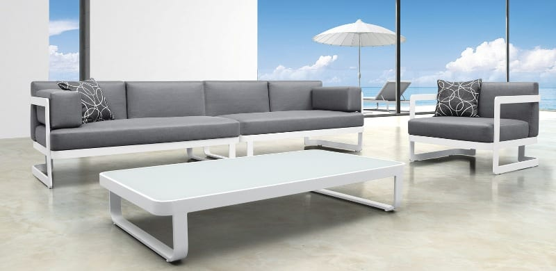 Moderne loungeset outdoorinstyle for Moderne loungebank tuin