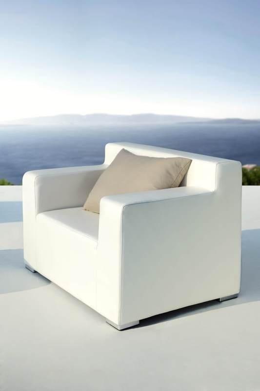 Witte loungeset outdoorinstyle - Moderne zwart witte lounge ...