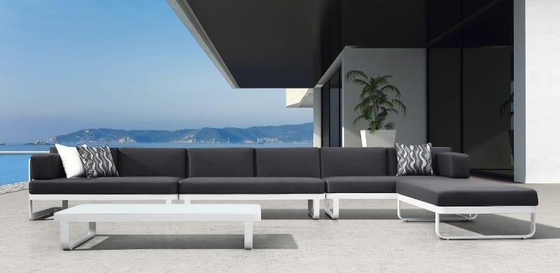 Exclusieve loungeset outdoorinstyle - Moderne zwart witte lounge ...