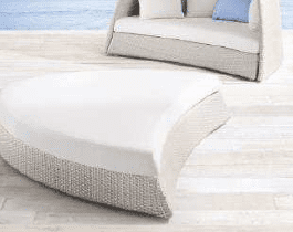 Ligbed Siena Outdoorinstyle offwhite met offwhite kussens