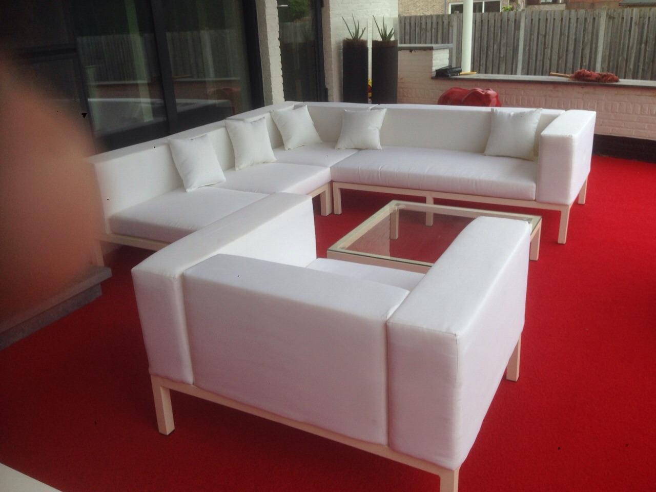 Loungeset Monaco wit bezorgd in Renkem (BE)