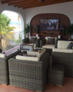 Loungeset Theoules bezorgd in vakantiehuis Spanje