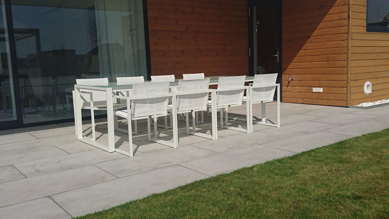 Tuinset san remo witte stoelen outdoorinstyle