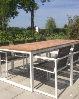 Tuinset San Remo Outdoorinstyle Teak met 6 taupe stoelen