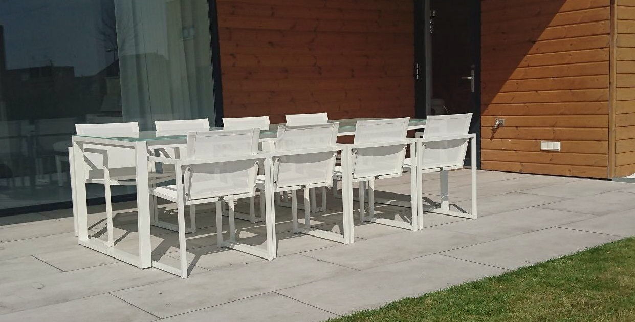 2 Witte Fauteuils.Tuinset San Remo Outdoorinstyle Met 8 Witte Fauteuils Outdoorinstyle