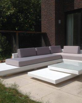 Loungeset Ibiza Outdoorinstyle lichtgrijze kussens