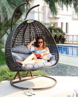 Hangstoel Bruin Egg.Deze Luxe Hangstoel Rio Duo Nu Eenvoudig Te Bestellen Via De Webshop