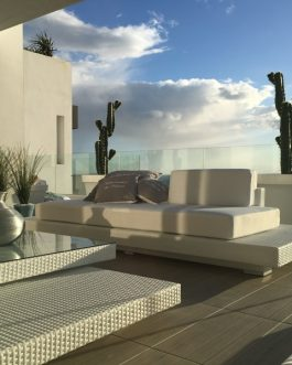 Loungeset Ibiza set compleet witte kussens Outdoorinstyle