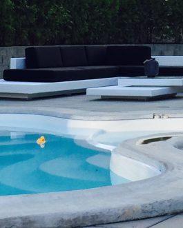 Loungeset Ibiza met zwarte kussens Outdoorinstyle