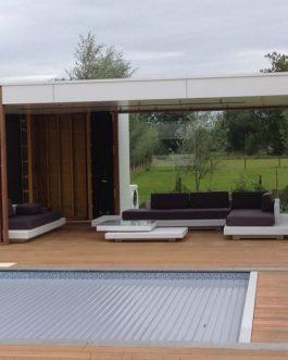 Loungeset Ibiza set Compleet Outdoorinstyle antraciet kussens