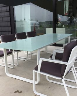 Tuinset Cannes 6-persoons antraciet kussens Outdoorinstyle