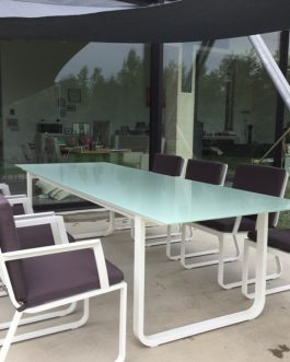 Tuinset Cannes Outdoorinstyle 8 persoons antraciet kussens