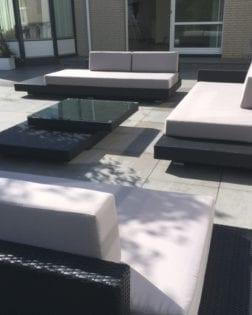 Loungeset Ibiza bezorgd in Lelystad in zwarte versie